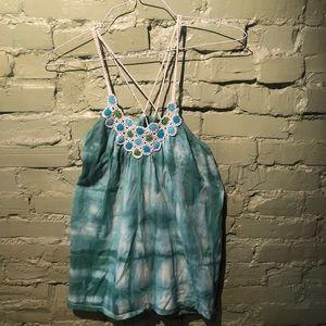 free people OSFM tank tie dye boho hippie oversize
